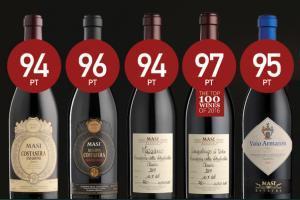 James Suckling geeft Masi wijnen zeer hoge scores
