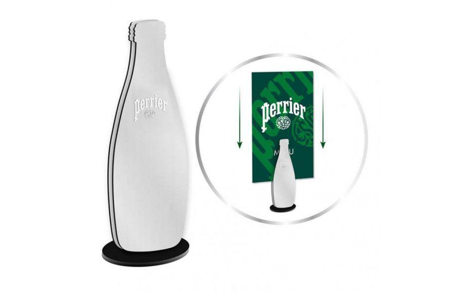 Perrier Menu Holder Bottle