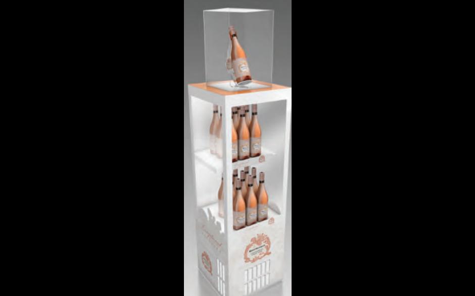 Boschendal Chardonnay-Pinot Noir display (inclusief koelsysteem)