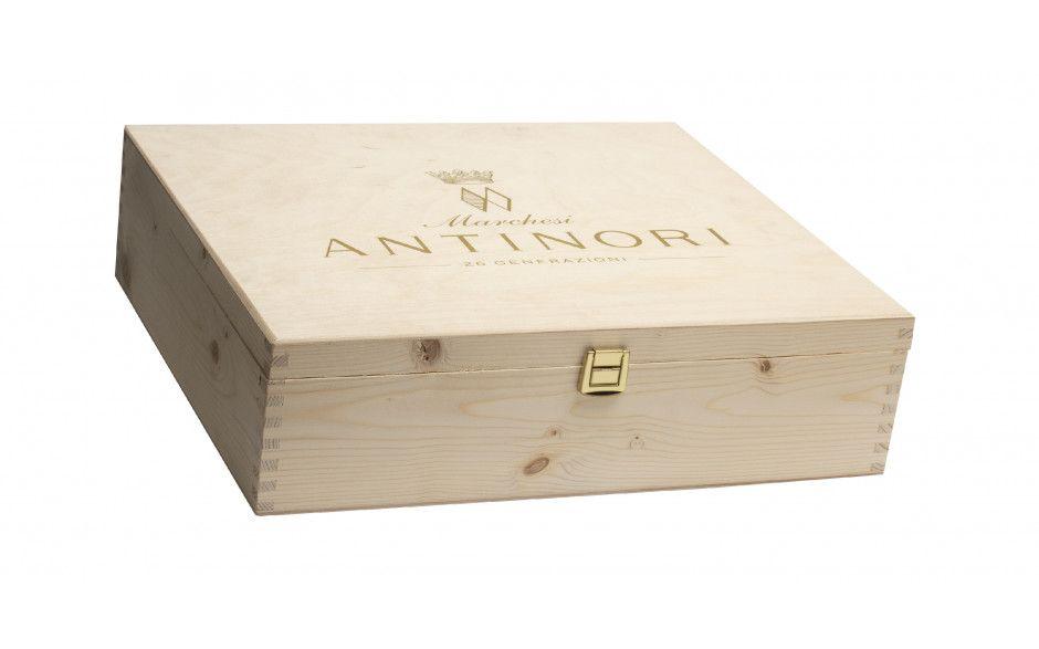 Antinori Houten 3-vaks wijnkist